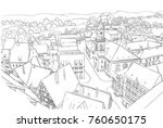 coloring page with nice small... | Shutterstock .eps vector #760650175