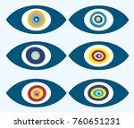 vector background of evil eye   ... | Shutterstock .eps vector #760651231