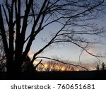 silhouette of trees against the ... | Shutterstock . vector #760651681
