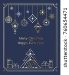 merry christmas and happy new... | Shutterstock .eps vector #760654471