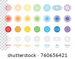 chakras system of human body  ... | Shutterstock .eps vector #760656421