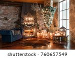 alternative tree upside down on ... | Shutterstock . vector #760657549