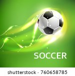 flaming soccer ball 3d vector... | Shutterstock .eps vector #760658785