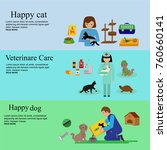 vector set in flat style with... | Shutterstock .eps vector #760660141