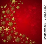 gold snowflakes for christmas   ... | Shutterstock .eps vector #760666564