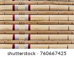 texture  background of a bamboo ... | Shutterstock . vector #760667425