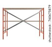 scaffolding metal construction... | Shutterstock . vector #760675879