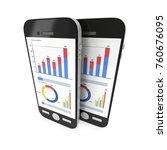 small data on smartphone.... | Shutterstock . vector #760676095