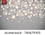 christmas shining bokeh...   Shutterstock .eps vector #760679305