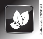 leaf icon 3d. internet icon 3d... | Shutterstock .eps vector #760680541