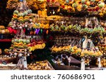 new year and christmas fair.... | Shutterstock . vector #760686901
