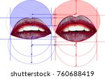 lip injections volume  sexy... | Shutterstock . vector #760688419