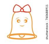 kawaii bell icon    Shutterstock .eps vector #760688911