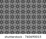 ornament with elements of black ...   Shutterstock . vector #760690015