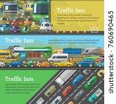 traffic road jam vector... | Shutterstock .eps vector #760690465