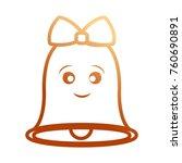 kawaii bell icon    Shutterstock .eps vector #760690891