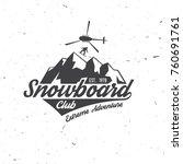 snowboard club. vector... | Shutterstock .eps vector #760691761