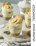 sweet homemade banana pudding... | Shutterstock . vector #760692025