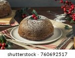 sweet homemade christmas figgy... | Shutterstock . vector #760692517