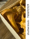 raw orange organic chanterelle... | Shutterstock . vector #760692529