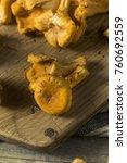 raw orange organic chanterelle... | Shutterstock . vector #760692559