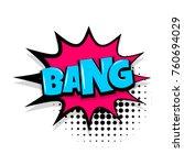 bang boom  gun comic text... | Shutterstock .eps vector #760694029