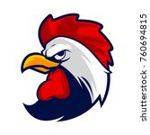 rooster head mascot | Shutterstock .eps vector #760694815