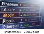 Stock photo bitcoin exchange concept currency and financial market values copyspace for text 760695505