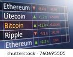bitcoin exchange concept. ... | Shutterstock . vector #760695505