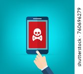 malware notification on... | Shutterstock .eps vector #760696279