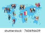 vector illustration of social... | Shutterstock .eps vector #760696639