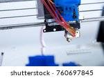 electronic three dimensional... | Shutterstock . vector #760697845