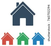 home icon set   simple flat... | Shutterstock .eps vector #760702294