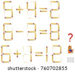 logic puzzle. in each task move ... | Shutterstock .eps vector #760702855