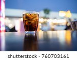 sparking water soda or cola in... | Shutterstock . vector #760703161
