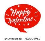 happy valentine  beautiful... | Shutterstock .eps vector #760704967
