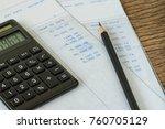 financial office salary man or... | Shutterstock . vector #760705129