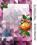 christmas  holiday background...   Shutterstock .eps vector #760705675