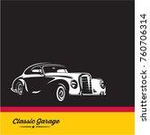 classic car  luxury vintage car ... | Shutterstock .eps vector #760706314