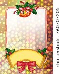 christmas  holiday background...   Shutterstock .eps vector #760707205