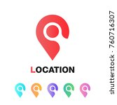 location icon vector. pin sign...
