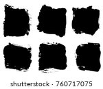 collection or set of artistic... | Shutterstock . vector #760717075