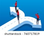 choose different directions of... | Shutterstock .eps vector #760717819
