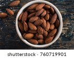 roasted salted almonds | Shutterstock . vector #760719901