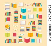 book icons set in flat style... | Shutterstock .eps vector #760719925
