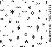 hand drawn seamless pattern... | Shutterstock .eps vector #760719931