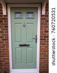 green door. modern house... | Shutterstock . vector #760720531