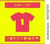 men's sport t shirt icon   the... | Shutterstock .eps vector #760720705