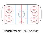 ice hockey rink. mockup... | Shutterstock .eps vector #760720789