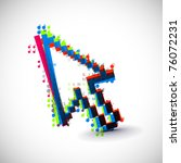 acbtract colorful vector...   Shutterstock .eps vector #76072231